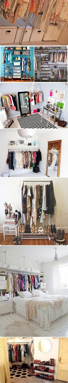 Bisbilhoteiras   Blog   Decor: closet improvisado