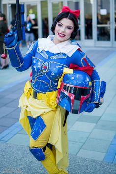 Snow White Boba Fett Cosplay mash-up