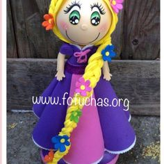 Princess Rapunzel Fofucha doll available for purchase. #birthday #princess #Disney