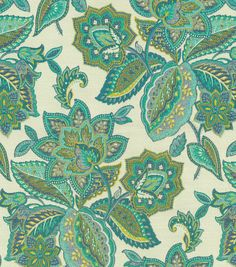 Upholstery Fabric- Waverly Treasure Trove/Peacock, , hi-res