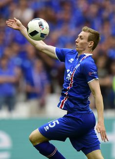 #EURO2016 Iceland's forward Jon Dadi Bodvarsson in action during the Euro 2016 group F football match between Iceland and Hungary at the Stade Velodrome in...