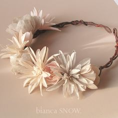 Linen floral crown by Bianca Snow