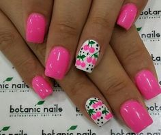 Cherry Nails with PiNk