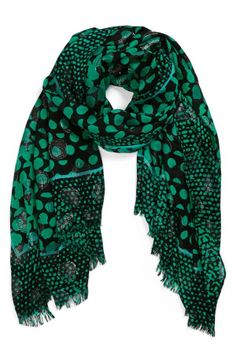 Black & Green Scarf.