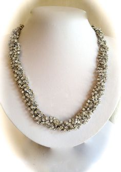 Braided Crystal Collar Necklace by WOWTHATSBEAUTIFUL on Etsy