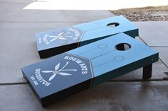 Follow along on the creation of two Quidditch Cornhole Boards for our upcoming Harry Potter Party.