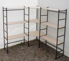 Use this corner display set in your next arts or craft show, maximize the area that they give you. Shelves are made from birch plywood, and are