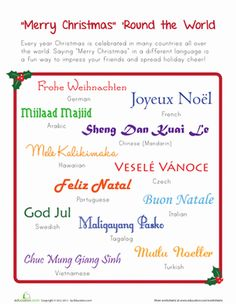 how to say merry christmas santa in other countries hacks pinterest merry santa and infographics - How Do You Say Merry Christmas In Italian