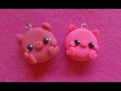 YouTube kawaii chubby pig charms polymer clay tutorial