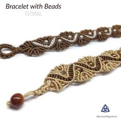 In this tutorial, you will learn how to make Macrame bracelet with beads. I hope that you will enjoy making your macrame jewelry. Macrame Jewelry Tutorial, Macrame Bracelet Patterns, Macrame Necklace, Macrame Bracelets, Diy Necklace, Diy Jewelry, Jewelery, Jewelry Making, Friendship Bracelets Designs