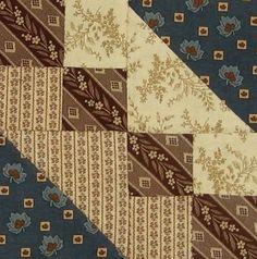 Underground Railroad Quilt Block   Barbara Brackman Civil War Quilt