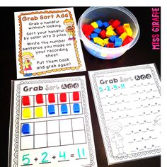 Ideas for teaching Adding 3 Numbers for first grade!!