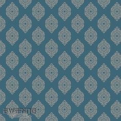 23-327358 Waverly Small Prints Rasch Textil Ornament Petrol
