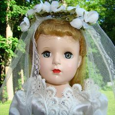 Madame Alexander Bride Doll Margaret Face 17 Inch Hard Plastic C1952 by AmericanBeautyDolls on Etsy