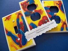 spiderman room | Kids Room Boys Room 1 Custom Made Switchplate Covers Various Designs ...