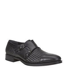 Salvatore Ferragamo Pascale Woven Leather Monk Shoes | Harrods