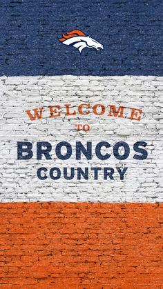 Being from Broncos country means dedication. Stay connected to your team all week with NFL Mobile from Verizon and rid yourself of the fear of missing out on football. Broncos Gear, Denver Broncos Football, Go Broncos, Broncos Fans, Football Baby, Football Season, Pittsburgh Steelers, Denver Broncos Wallpaper, Football Wallpaper