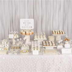 A white-themed dessert bar makes a stunning display in Weddings In Color: 500 Creative Ideas for Designing a Modern Wedding @chroniclebooks