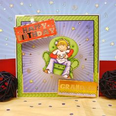 All the Boys by Hunkydory Crafts. Card made using 'I'm Winning!' topper set