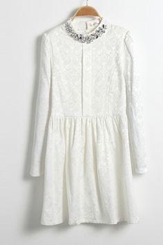 round diamante collar dress