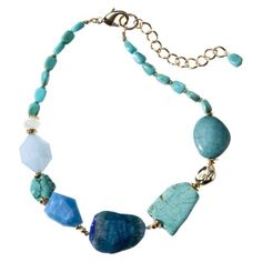 Blue Short Multi Stone Necklace. Perfect for you.  $29.99