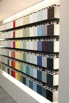 The Farrow & Ball colour wall in Pasadena. Bold and bright, or soft and subtle, this Farrow & Ball colour wall has it all.