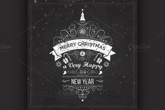 Christmas labels and emblems by Netkoff on Creative Market