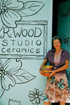 R. Wood studio ceramics. I'd love to visit this place!