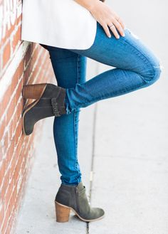 Chic, versatile suede ankle booties for fall //
