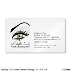 Minimalistic eyelash extensions business card pinterest business eye long lashes lash extension company branding business card magnet colourmoves