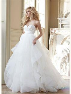 White Ball V-Neck Tulle 2013 Wedding Dresses
