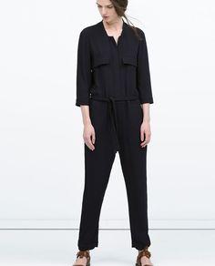 combinaison pantalon Zara noir