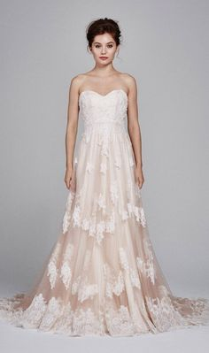 Kelly Faetanini Fall 2017 Strapless sweetheart tulle A-line