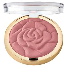 A powder blush shaped into a delicate flower shape that looks more department store than drugstore. | 26 Beauty Products That Only Look Expensive