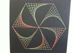 string art for boys | Math string art my 4th grade BOYS and girls loved sewing these ...
