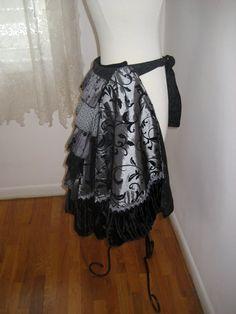 Black & Silver BUMM RUFF bustle steampunk by witchybitchybd