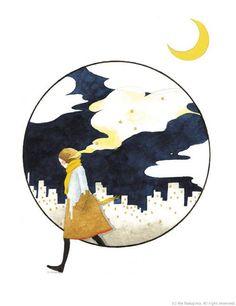 中島梨繪插畫作品 | 簡單,清新,充滿孩子般的天真和害怕