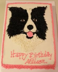 Birthday Cake Toppers Border Collies