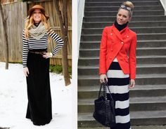2 ways to wear a maxi in winter