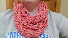 Crochet Fashionable Infinity Scarf In Coraline by JensNeedleKnows
