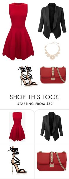 """Untitled #402"" by elma-alibasic ❤ liked on Polyvore featuring Alexander McQueen, Jupe de Abby, Gianvito Rossi, Valentino and Kate Spade"