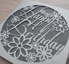 Happy Birthday Paper Cut