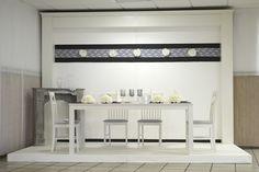 Hochzeitsdeko grau / weiß schlicht und elegant