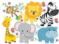Animales safari safari animals, baby boy shower y baby party.