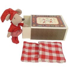 Girl Mouse in Matchbox by Maileg by Love Vintage Craft