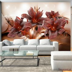 """Durability, waterproof and stripes photomural nonwoven fabric Wall mural """"Fiery Temperament"""" to stick on the wall. Wall Mural """"Fiery Temperament"""" with an inspiring theme will be an impressive ornament to any room. Wall Wallpaper, Decoration, Wall Murals, Couch, Living Room, Fabric, Inspiration, Furniture, Home Decor"""