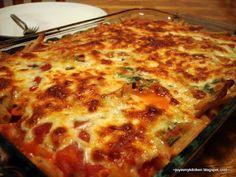 This looks amazing! Three Cheese Ziti. I would add mushrooms