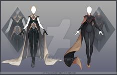 [Close] Design by Lonary on DeviantArt Dress Drawing, Drawing Clothes, Anime Outfits, Cool Outfits, Anime Dress, Fashion Design Sketches, Fantasy Girl, Character Design Inspiration, Writing Inspiration
