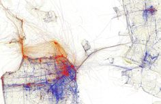 Data visualization: Tourists vs. Locals (from Flickr geotags).