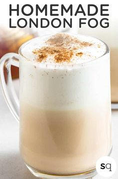 Learn how to make a London Fog latte from scratch with healthy ingredients. Made with earl grey tea, milk, hot water, maple syrup, vanilla, and cinnamon, it is an easy warm drink that takes only 5 minutes to make. Naturally sweetened and vegan. London Fog Recipe, Earl Grey Tea, Egg Dish, Anti Inflammatory Recipes, Recipe Of The Day, Maple Syrup, Healthy Drinks, Latte, Cinnamon
